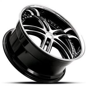 XIX X15 Gloss-Black-Machined Dramatic