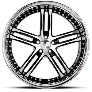 XIX X15 Gloss-Black-Machined Front