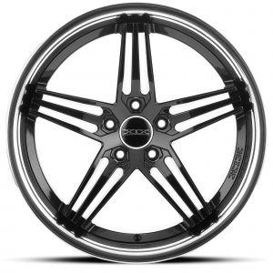 XIX X63 Gloss-Black Chrome-Lip Front