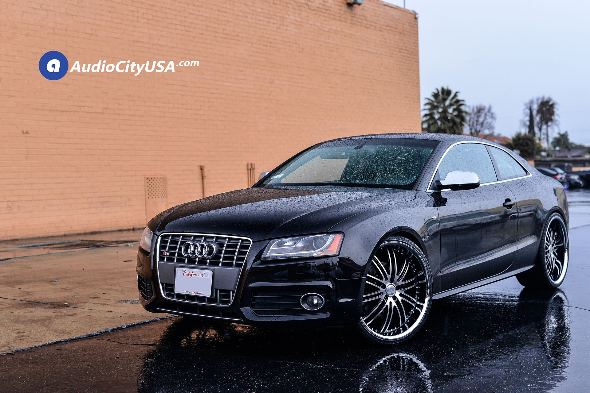 Audi S5 on XIX X23 Wheels - Gloss Black with Brushed Face